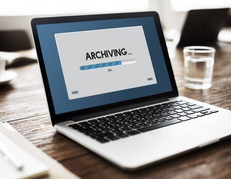 archiving: Connection Data Streaming Download Archiving Concept
