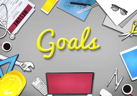 oriented: Goals Aspiration Target Vision Confidence Hopeful Concept
