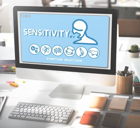 desorden: Sensitivity Allergy Disorder Sickness Healthcare Concept