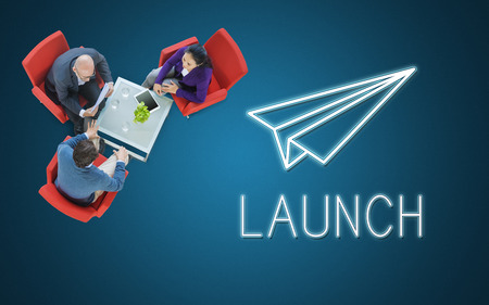 Launch Business Mission Startup Begin Mission Concept Stock Photo