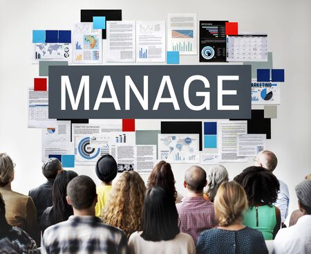 business roles: Manage Coordination Leadership Process Strategy Concept