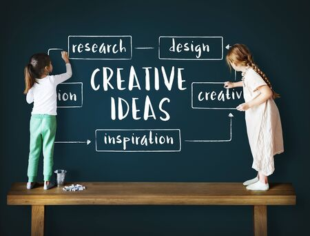 Creative Thinking Creativity Design Process Concept Banco de Imagens