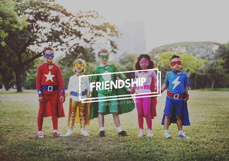 friendliness: Amistad Equipo de la Sociedad de conexión Juntos Concept