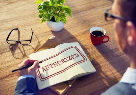 authorize: Authorize Allowance Approve Permit Graphic Concept