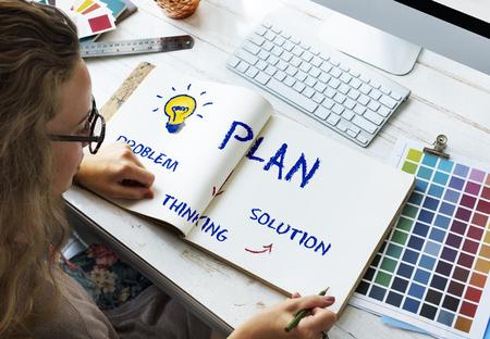 brainstorm: Strategy Idea Plan Brainstorm Analysis Concept Stock Photo