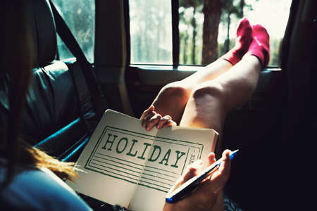 itinerary: Holiday Vacation Travelling Destination Tourism Concept