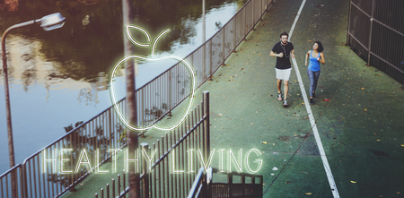 Jogging with healthy living concept