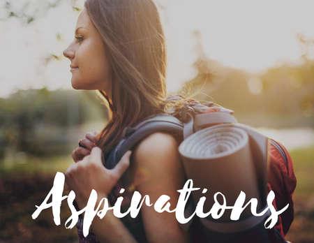 aspirations: Aspirations Motivation Inspiration Aspire Concept Stock Photo