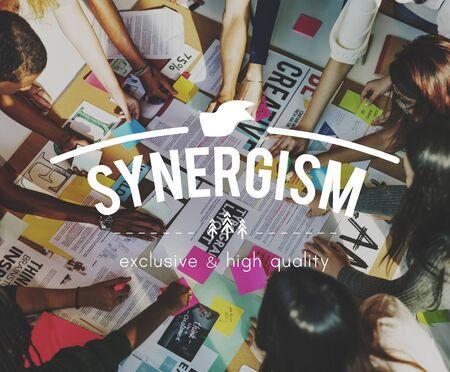 synergism: Teamwork Collaboration Togetherness Association Concept