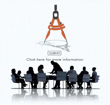 Compas Architecture Drafting Tools Business Concept Stock Photo