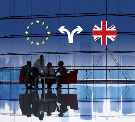 current events: Brexit Bremain UK EU Referendum Concept