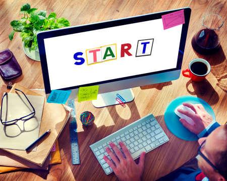empezar: Start Begin Open Motivation Ready Concept