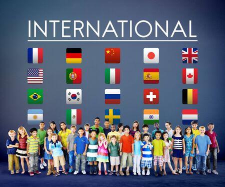 foreign: Flag Countries Foreign International Symbol Concept