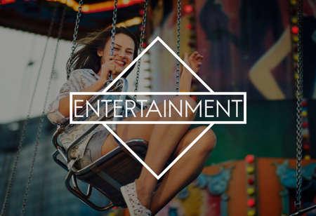 entertain: Entertainment Media Play Amusement Multimedia Entertain Concept