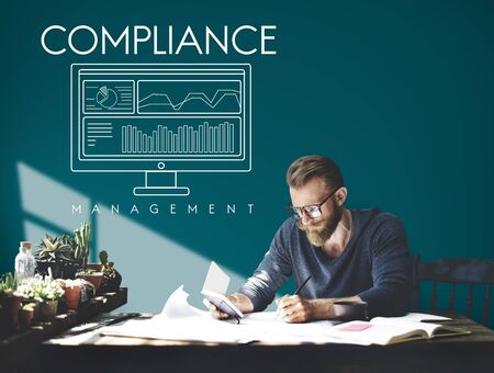 requirements: Business Compliance Regulations Standards Requirements Concept