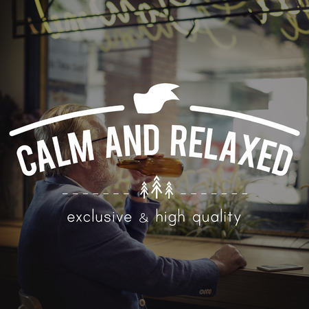 chillout: Calm And Relaxed Chill Be Happy Chillout Relaxation Concept Stock Photo