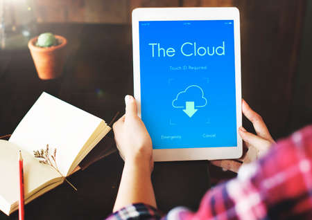 backup: Online Backup Cloud Storage Data Concept