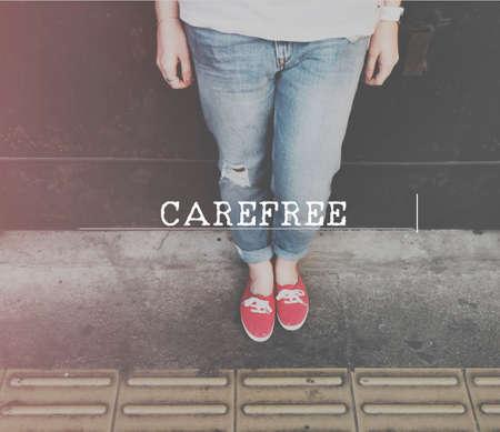 unworried: Carefree Freedom Chilling Unworried Relaxation Getaway Concept