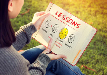 lessons: Lessons Education Knowledge Learning Study Concept