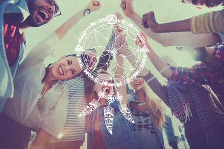 symbolic: Dreams Catcher Indians Symbolic Sign Concept
