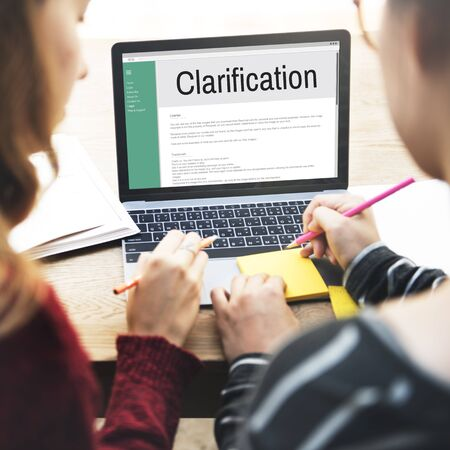 justification: Clarification Determination Explanation Question Concept Stock Photo