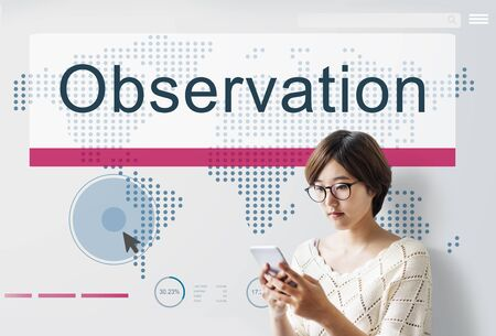 observations: Observation Development Surveillance Vision Concept Stock Photo