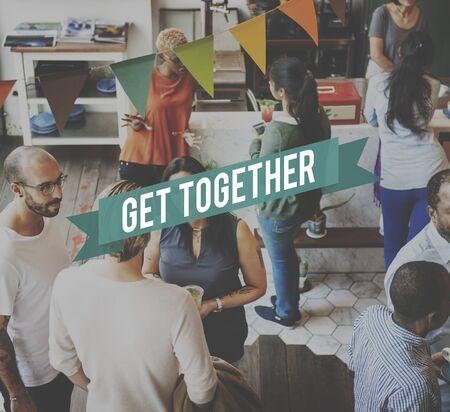 get together: Get Together Gethering Support Teamwork Concept