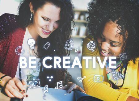 empowerment: Creativity Design Process Graphics Concept Stock Photo