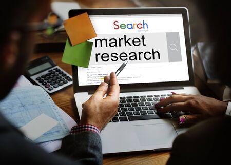 La investigación de mercado Analizar concepto de realimentación del Consumidor Foto de archivo