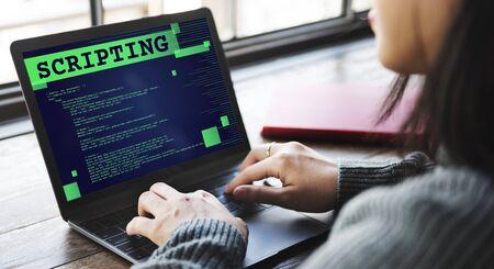 scripting: Scripting Computer Language Code Programming Developer Technology Concept Stock Photo