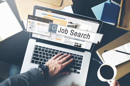 place of employment: Job Search Human Resources Recruitment Career Concept