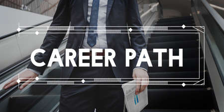 career path: Career Path Professional Hiring Jobs Concept Stock Photo