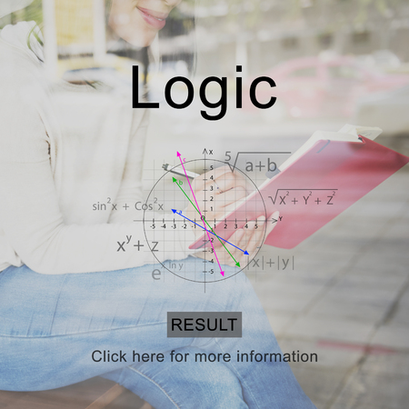 Logic concept with background
