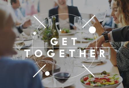 Get Together gethering Supporto Teamwork Concept