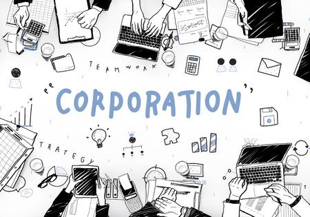 corporation: Marketing Business Corporation Progress Concept