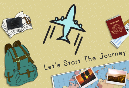 Starting the journey concept Imagens