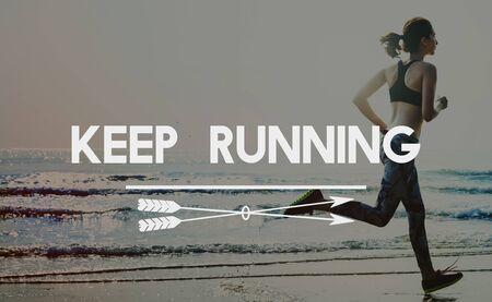 Keep Running Jogging Sprint Activity Concept