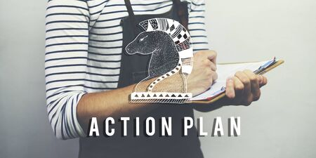 fillup: Action Plan Active Business Inspiration Vision Concept Stock Photo