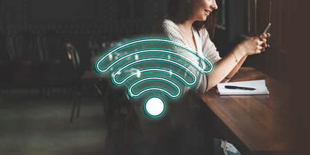 wireless internet: Wireless Internet Wifi Icon Concept