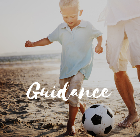 Guidance concept with background Stock Photo