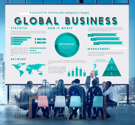 boardroom: Business Managment Marketing Global Plan Concept