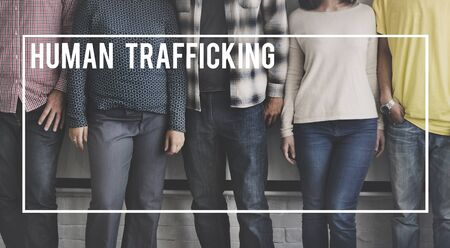 human trafficking: Human Trafficking Forced Labor Illegal Concept