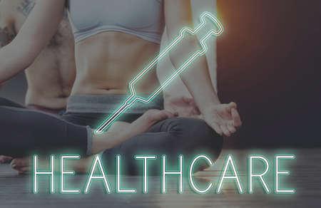 cure: Meditation Healthcare Treatment Cure Concept Stock Photo