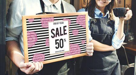 sales promotion: Sale Discount Shopping Shopaholics Promotion Concept