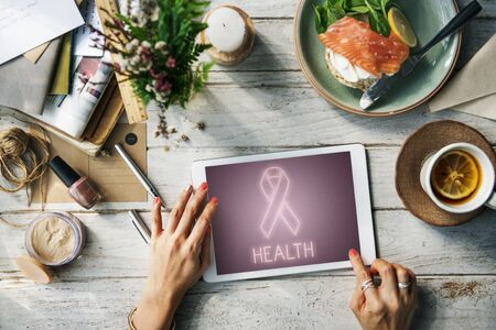 health awareness: Womens Health Awareness Ribbon Concept