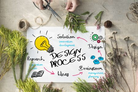 design process: Creativity Design Process Graphics Concept Stock Photo