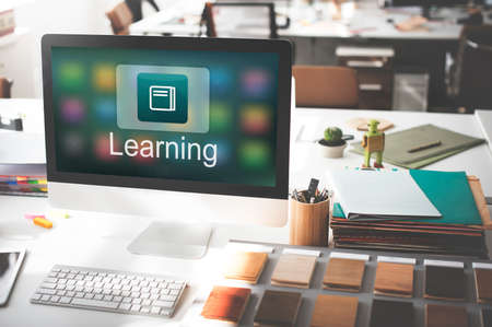 instructional: Academic E-Learning Education Online Application Concept
