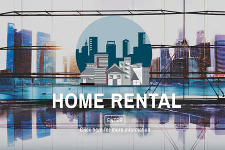 rental: Home Rental House Property Rent Concept Stock Photo
