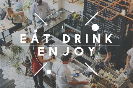 diner: Eating Meeting Togetherness Diner Concept Stock Photo