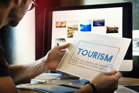 itinerary: Holiday Travel Voyage Wanderlust Vacation Concept